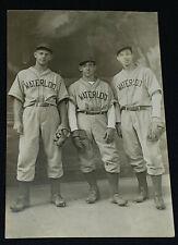 1947 CAOUETTE BROTHERS & G.RENAUD - J.A. LEGARE STUDIO BASEBALL PHOTO - ORIGINAL