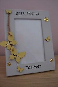 Personalised handmade Best Friends Forever Photo Frame Gift 6X4