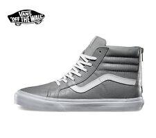 Vans SK8 Hi Zip CA Croc Leather Wild Dove Men's Classic Skate Shoes Size 11.5