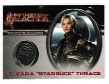"BATTLESTAR GALACTICA #CC4 L.T. KARA ""STARBUCK"" THRACE COSTUME CARD"