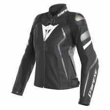 New Dainese Avro 4 Leather Jacket Women's EU 42 Black/White #253381026A42