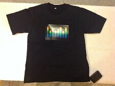 Sound Activated Light Up & Down Flashing Equalizer El Men's T-shirt - Small