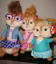 Ty Beanie Baby Set ~ BRITTANY, ELEANOR & JEANETTE Chipettes  ~ NEW w/ MINT TAGS