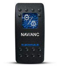 Labeled Contura II Rocker Switch COVER ONLY, Nav/Anc (2 BLUE lens)
