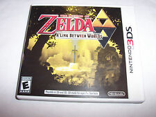 The Legend of Zelda A Link Between Worlds (Nintendo 3DS) XL Game w/Case & Insert