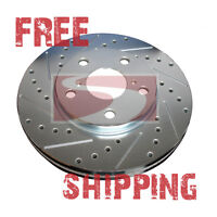 REAR Performance Cross Drilled Slotted Brake Disc Rotors TB31376 (w/Brembo)