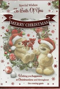To Both Of You Christmas Card Cute Design By Prelude Large Size 26 x 18cm