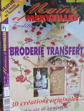 Mains & Marveilles Broderie Transfert-30 Designs-French Embroidery Transfer