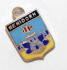 New listing Vintage Benidorm Spain Silver Enamel Travel Shield Bracelet Charm (1.3g)