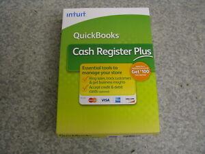 New Intuit QuickBooks CASH REGISTER PLUS 2009 for Windows Retail Box - OPEN BOX