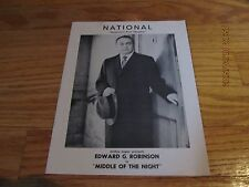 DECEMBER 30 1957 MIDDLE OF THE NIGHT PLAYBILL EDWARD G ROBINSON National Theater