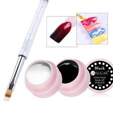 3pcs/set Nail Art Gradient Pen Drawing Brush & White Black Paint UV Gel Polish