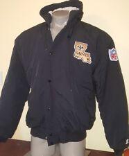Vintage New Orleans Saints Throwback Puffy Parka Starter Jacket XL 90s