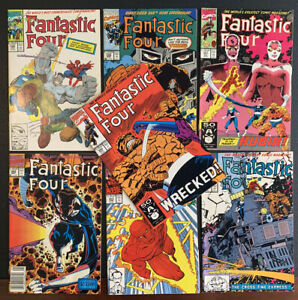Fantastic Four 348 350 351 352 353 354 355 most with logos in place of UPC codes