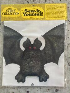 Vtg 1978 The Toy Works Sew-it-Yourself The Gorey Bat Edward Gorey Collection