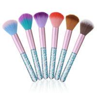 Monja Acrylic Dot Handle Nail Art Soft Dust Cleaning Brush Uv Gel Powder Seq 4P3