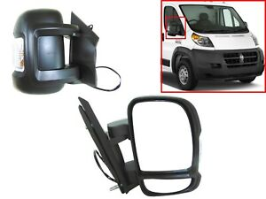 New Fits 2014-2018 Ram Promaster Right Side Rear View Mirror Manual Short Arm RF