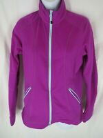 The North Face Womens Purple Long Sleeve Fleece Jacket Size M Medium