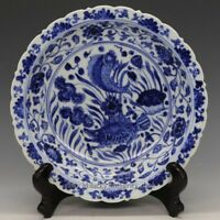 Nice Chinese Ming Blue and White Porcelain Plate with Mark