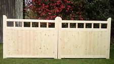 Wooden Garden Gates 4ft  x 12ft Driveway Gates With Spindles