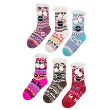 Snoozies  Pom Pom cozy & Warm Sherpa Lined slippers socks Colour Various New