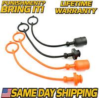 (4 Pk) Hydraulic Coupler Plug & Cap Set for New Holland, Ford, Bush hog, Case IH