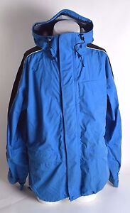 MENS SESSIONS SUMMIT SERIES SNOWBOARD JACKET $230 L blue black white USED