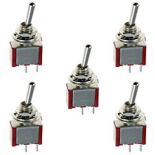 5 X On/off Mini Miniatura interruptor de palanca Car Dash Dashboard SPST