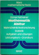 Mathematik Abitur Wahrscheinlichkeitsrechnung Statistik Aufgaben und Lösungen