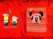 pick 1 Boy girl unsex Mickey Mouse Minions tank Top T shirt size XS S M L Red