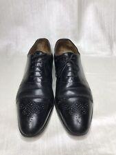 WORN Berluti Black Leather Medalion Cap Toe Oxfords dress shoes 10/ US 11 lux