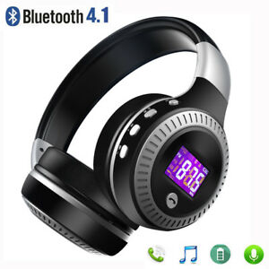 Wireless Stereo Headphones Headset Earphones Bluetooth 4.1 Super Bass Foldable