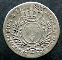 1/2 ECU 1731 E. - FRANCE / TOURS - LOUIS XV (Argent / Silver) demi ecu