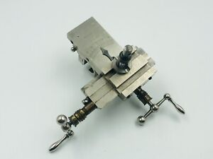 Antique  Lorch Small Cross Slide Watchmaker 6mm Lathe Made In Germany