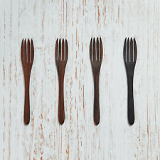 ORGANIC WOODEN FORKS HANDCRAFTED VEGAN NATURAL FORKS SET OF 4