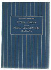 Libro Storia Critica della Prima Letteratura Italiana Autografo Emerico - Amari