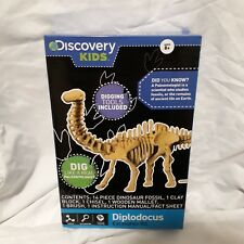 New Discovery Kids Childrens Diplodocus Excavation Kit Dig For Dino Bones!