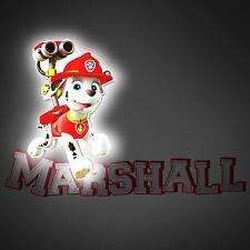 Oficial Paw Patrol Marshall Mini 3d Luz de pared LED - DORMITORIO INFANTIL