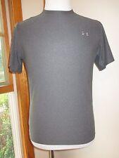 Under Armour Heat Gear Gray Short Sleeve Shirt Men's Small Excellent Condition