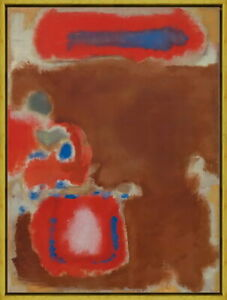 Framed Mark Rothko Untitled Giclee Canvas Print Paintings Poster Reproduction
