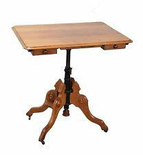 Antique Victorian Cherry Folding Tilt Top Drafting Table