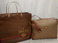 NOS Vintage large Gucci  canvas logo shoulder bag handbag
