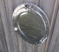 hublot miroir ouvrant aluminium 30cm deco marine