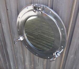 hublot miroir ouvrant aluminium 29cm deco marine
