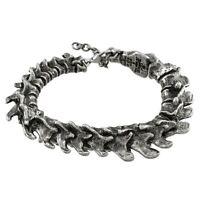 Alchemy Gothic Wirbel Zinn Unisex Armreif Armband Wirbelsäule Skelett Knochen