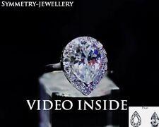 Pear Platinum Fine Diamond Rings