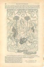 Gravure sur bois de l'an 1418 de Frédéric de Reiffenberg Belgique GRAVURE 1845