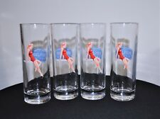 "DEEP EDDY VODKA ""DIVE IN"" PIN UP GIRL GLASSES SET OF 4"