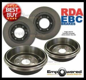 FRONT DISC BRAKE ROTORS& REAR BRAKE DRUMS for Holden Colorado RC 3.0TD 2008-2012