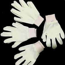 For everyday work  Off white cotton hand gloves 4 Pairs